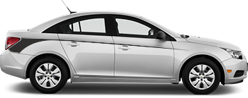 Side Rear Hockey Needlesfor the 2012 to 2014 Chevy Cruze