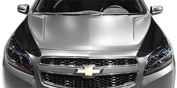 Hood Side Blackout Spears on the 2013 to 2015 Chevy Malibu
