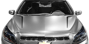 Hood Scallop Spears on the 2013 to 2015 Chevy Malibu