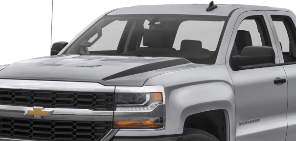 Chevy Silverado Hood Spears Vinyl Decal Graphic Striping