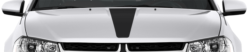2008-2014 Avenger Hood Center Stripe on vehicle image.