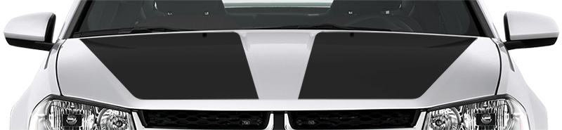 2008-2014 Avenger Main Hood Decals on vehicle image.