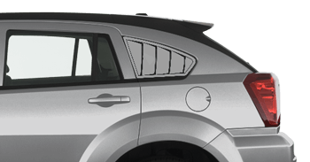Rear Side Window Simulated Louvers on the 2007 to 2012 Dodge Caliber