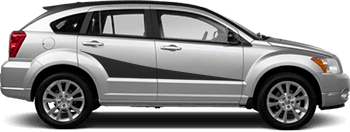 Side Accent Stripes on the 2007 to 2012 Dodge Caliber