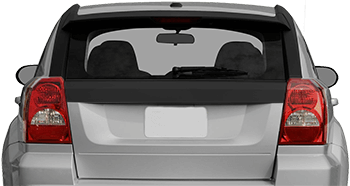 Rear / Tailgate Upper Blackout on the 2007 to 2012 Dodge Caliber