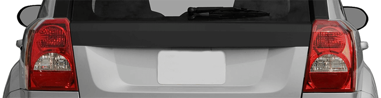 2007-2012 Caliber Rear / Tailgate Upper Blackout on vehicle image.