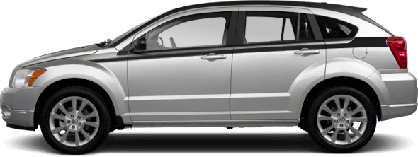 View 2007 to 2012 Dodge Caliber with and without Upper Body Side (Cuda) Stripes Graphics installed.