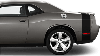 Rear Bumblebee Tail Stripes on the 2008 to 2014 Dodge Challenger