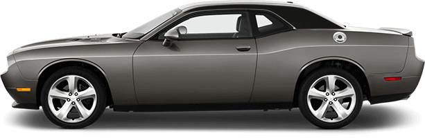 Image of C-Pillar Accent Stripes on 2008 Dodge Challenger