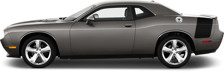 Image of Drag Pack Tail Stripes on 2008 Dodge Challenger