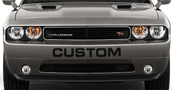 Front Bumper Text on the 2008 to 2014 Dodge Challenger
