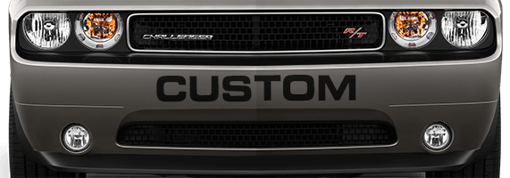 Image of Front Bumper Text on 2008 Dodge Challenger