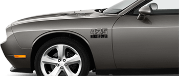 Front Fender Callouts on the 2008 to 2014 Dodge Challenger