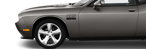 Image of Front Fender Callouts on 2008 Dodge Challenger