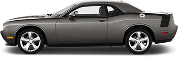 Full Length Hockey Pinstripes on the 2008 to 2014 Dodge Challenger