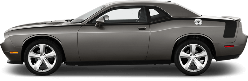Image of Full Length Hockey Pinstripes on 2008 Dodge Challenger