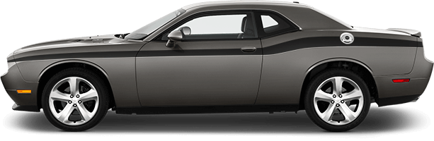 Image of Full Length Slim Upper Body Stripes on 2008 Dodge Challenger