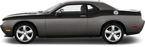 Image of Full Length Upper Body Stripes on 2008 Dodge Challenger