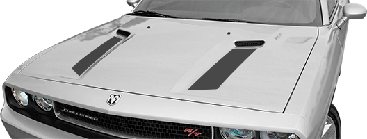 Image of Hood Intake Accent Stripes on 2008 Dodge Challenger