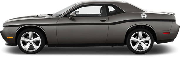 Image of MOPAR 10 Style Beltline Stripes on 2008 Dodge Challenger