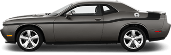 MOPAR 14 Style Side and Trunk Stripes on the 2008 to 2014 Dodge Challenger