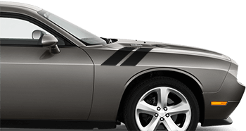 Image of OEM Style Hood to Fender Hash Stripes on the 2008 Dodge Challenger