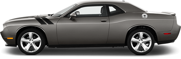 Image of OEM Style Hood to Fender Hash Stripes on 2008 Dodge Challenger