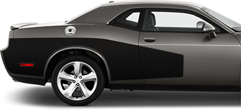 Rear Billboard Side Stripes on the 2008 to 2014 Dodge Challenger