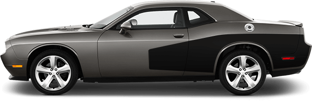 Image of Rear Billboard Side Stripes on 2008 Dodge Challenger