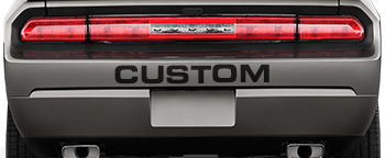 Rear Bumper Text on the 2008 to 2014 Dodge Challenger