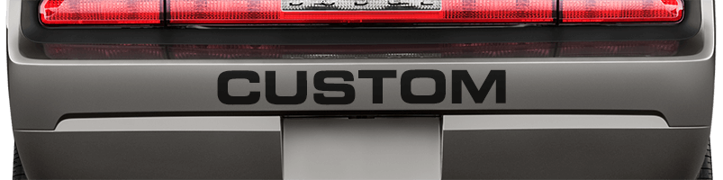 Image of Rear Bumper Text on 2008 Dodge Challenger