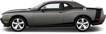 Image of Reverse C Side Pintsripes on the 2008 Dodge Challenger