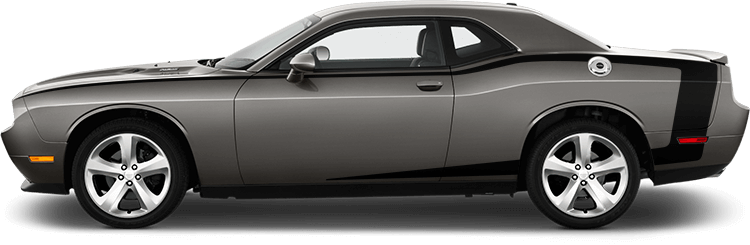 Image of Reverse C Side Pinstripes on 2008 Dodge Challenger