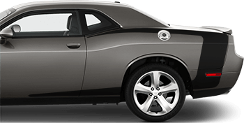 Reverse C Side Stripes on the 2008 to 2014 Dodge Challenger