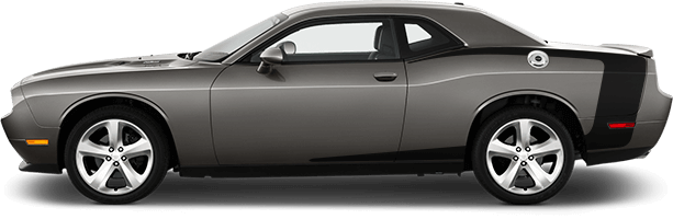 Image of Reverse C Side Stripes on 2008 Dodge Challenger