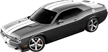 Rally Racing Dual Stripes Kit on the 2008 to 2014 Dodge Challenger