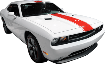 Redline Rally Racing Stripes Kit on the 2008 to 2014 Dodge Challenger