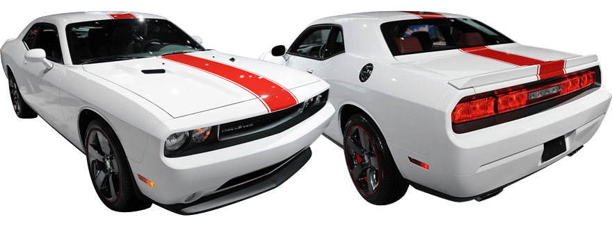 Image of Redline Rally Racing Stripes Kit on 2008 Dodge Challenger