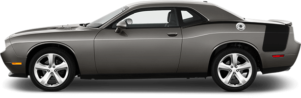Image of Rear Quarter Stinger Hockey Stripes on 2008 Dodge Challenger