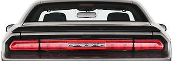 Rear Spoiler Blackout Decal on the 2008 to 2014 Dodge Challenger
