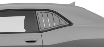 Dodge Challenger 2008 Rear Side Window Simulated Louvers