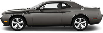 Side Accent Hash Stripes on the 2008 to 2014 Dodge Challenger