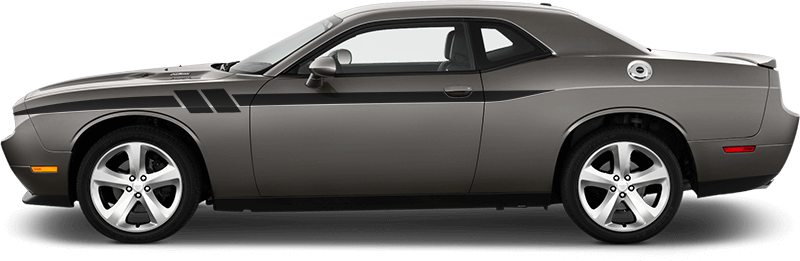 Image of Side Accent Hash Stripes on 2008 Dodge Challenger