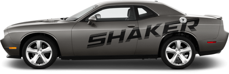 Image of Shaker Billboard Side Stripes on 2008 Dodge Challenger