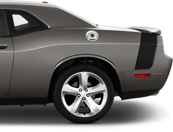 '15 Scat Pack Bumblebee Tail Stripes on the 2008 to 2014 Dodge Challenger