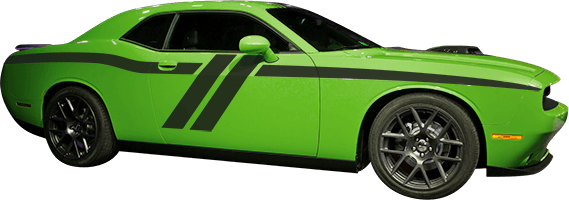 Image of Trans-Am Side Stripes on 2008 Dodge Challenger