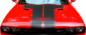 Image of T-Hood Decal on 2008 Dodge Challenger