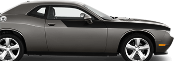 Front Upper Body Partial Stripes on the 2008 to 2014 Dodge Challenger