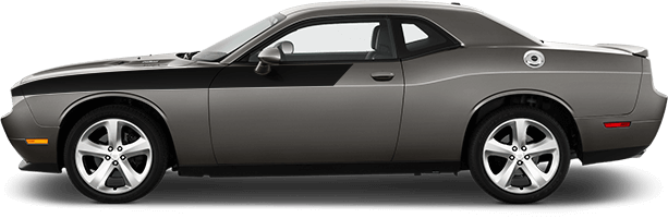 Image of Front Upper Body Partial Stripes on 2008 Dodge Challenger