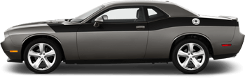 Full Length Upper Body Hash Combo Stripes on the 2008 to 2014 Dodge Challenger